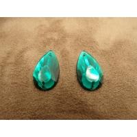 Strass goutte vert foncé ,22 mm, sublime pour vêtement, pochette, sac...vendu par 10 pièces