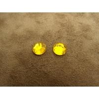 Strass rond orange,8 mm,sublime pour vêtement, pochette, sac.., vendu par 10 piéces