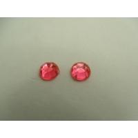 strass rond rouge ,8 mm, parfait  pour vêtement, pochette, sac...vendu par 10 pièces