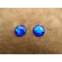 strass rond bleu,11 mm, Idéal pour vêtement, pochette, sac...vendu par 10 pièces