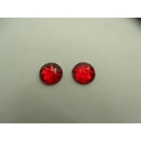 strass rond rouge ,11 mm, parfait  pour vêtement, pochette, sac...vendu par 10 pièces