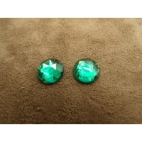 strass rond vert, 11 mm, Idéal pour vêtement, pochette, sac...vendu par 10 pièces