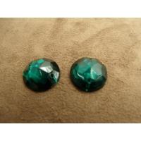 strass rond vert foncé,18 mm, idéal pour vêtement, pochette, sac..vendu à la pièce