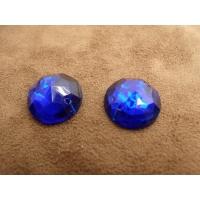 strass rond bleu,18 mm, Idéal pour vêtement, pochette, sac...vendu à la pièce