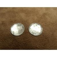 strass rond argent,15 mm, convient  pour vêtement, pochette, sac...vendu par 10 pièces