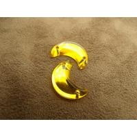 Strass lune jaune,16 mm,vendu par 10 pièces
