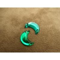 Strass lune vert,16 mm,vendu par 10 pièces