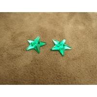 strass etoile vert ,16 mm, parfait  pour vêtement, pochette, sac...., vendu par 10 pièces