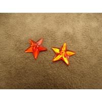 strass etoile rouge,16 mm, sublime pour vêtement, pochette, sac...., vendu par 10 pièces