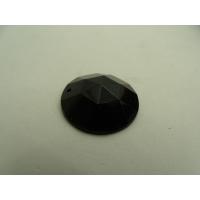 Strass rond noir, 25 mm, idéal pour vêtement, pochette, sac...., vendu à la piéce