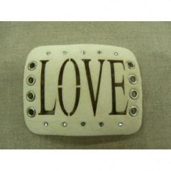 collier perle acrylique-70cm- violet