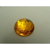 strass rond jaune,25 mm, sublime  pour vêtement, pochette, sac...vendu à la pièce