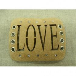 collier perle acrylique-70cm- bleu foncé
