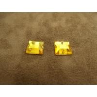 strass carré orange ,12 mm, sublime pour vêtement, pochette, sac., vendu par 10 pièces