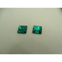 strass carré vert,10 mm, convient pour vêtement, pochette, sac., vendu par 10 pièces
