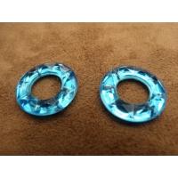 Strass bleu en forme de roue ,25 mm, idéal pour vêtement, pochette, sac....,vendu par 10 pièces