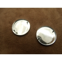 strass rond argent,23 mm, convient  pour vêtement, pochette, sac...vendu par 10 pièces