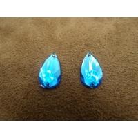strass goutte bleu , 16 mm, convient pour vêtement, pochette, sac..., vendu par 10 pièces