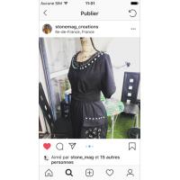 réalisation cliente création d'une robe avec notre ruban