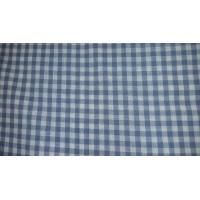 tissu coton vichy carreau bleu et blanc,150 cm