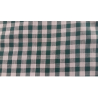 tissu coton vichy carreau vert et blanc,150 cm