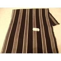 tissu coton uni à raillure gris et noir,150 cm