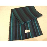 tissu coton uni à raillure noir et vert ,150 cm