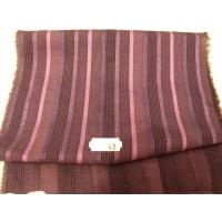 tissu coton uni à raillure violet et parme 150 cm