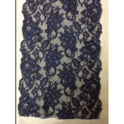 DENTELLE de CALAIS 22 cm festonnée- bleu marine