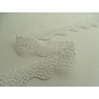 dentelle de calais coton blanc,1.8 cm