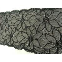 dentelle de calais leavers black rose ,17 cm