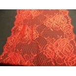 dentelle de calais rouge passion love textronique,22 cm