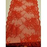 nouvelle dentelle de calais rouge passion love textronique,22 cm
