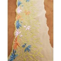 nouvelle DENTELLE/ BRODERIE multicolore 14 cm