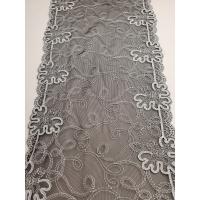 nouvelle dentelle / broderie de calais noir et gris ,21 cm