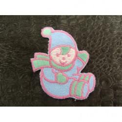 Perle acrylique ethnique -argenté