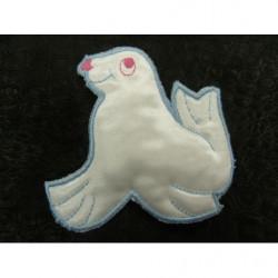 perle acrylique ovale spirale- (argent/noir)