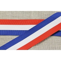 ruban tricolore, 40 mm, Idéal pour fêter le 14 juillet et les festivité ,vendu par 20 metres/soit 1,25 euros le metre