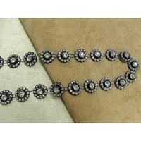 ruban strass central,1.5 cm,parfait   pour la customisation de vêtement, collier, chapeau, bijoux,