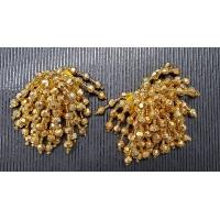 NOUVEAU pompon doré perlé