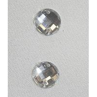 strass rond argent,11 mm, convient  pour vêtement, pochette, sac...vendu par 10 pièces