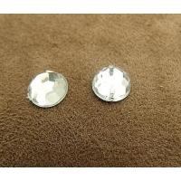 strass rond argent,8 mm, convient  pour vêtement, pochette, sac...vendu par 10 pièces