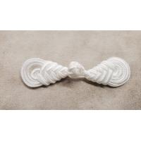 Nouveau BOUTON BRANDEBOURG blanc longueur 8 cm/ largeur 2,3 cm