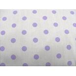 tissu coton imprimé gris à pois violet,145 cm, parfait pour toutes vos réalisations et créations