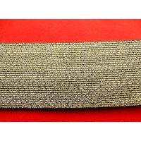 RUBAN ELASTIQUE doré mat ,5 cm