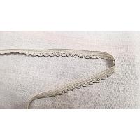 élastique dentelé gris perlé ,9 mm,vendu par 3 metres / soit 0,90€ le metre