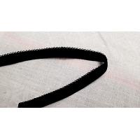 élastique dentelé noir ,9 mm,vendu par 3 metres / soit 0,90€ le metre