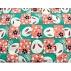 tissu coton imprimé  lapin rose et vert, 150 cm, idéal pour toutes vos réalisations et créations