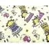tissu coton imprimé  happy birthday,150 cm, multicolore,idéal pour toutes vos réalisations et créations
