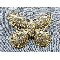 MAGNIFIQUE broche papillon doré